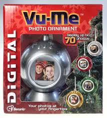 vu me silver digital photo ornament displays 70