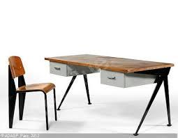 bureau prouvé bureau compas et sa chaise standard sold by artcurial briest