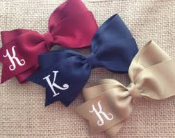 personalized bows bow etsy