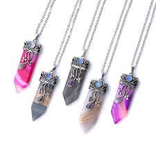 natural stone necklace wholesale images Wholesale vintage opal stones fluorite labradorite pendant jpg