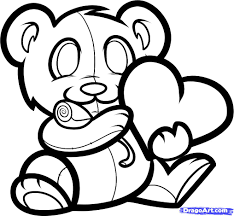 how to draw a valentines bear valentine bear step by step