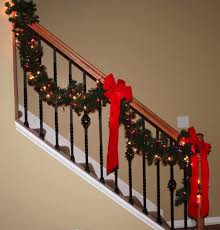 Christmas Banister Garland Ideas Decor U0026 Tips Cool Ideas To Revamp Your Stairs Using Stylish