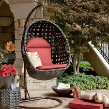 outdoor wicker hanging chair