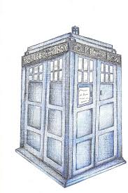 tardis colored pencil view 2 by adriaeve on deviantart