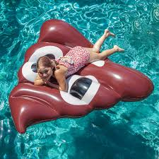 Giant 5 Foot Inflatable Poop Emoji Pool Float