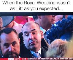 Purple Wedding Meme - suits star rick hoffman just explained that viral royal wedding