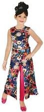 multi coloured stylist long cape top dress with leggings for girls