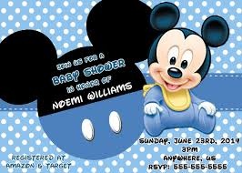 beautiful mickey mouse baby shower invitations printable