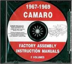 1967 1968 1969 chevy camaro factory assembly instruction manual cd
