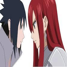 sasuke and sasuke and erza by vxanmexv on deviantart