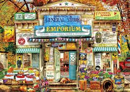 thanksgiving jigsaw puzzle brown u0027s general store jigsaw puzzle puzzlewarehouse com