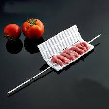plastic fruit skewers wholesale 5pcs meat skewer maker abs plastic meat string device