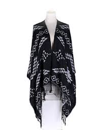 Plaid Cardigan Womens Womens Winter Knitted Poncho Cape Shawls Cardigans Sweater