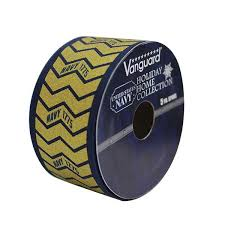 navy blue wired ribbon navy decorative wired ribbon gold with blue edge 5 yard spool 1 5