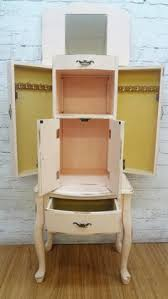 Shabby Chic Jewelry Armoire by Shabby Chic Antique White Jewelry Armoire Jewelry Armoires At