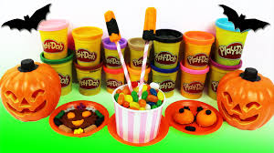 Decorate Halloween Cookies Play Doh Halloween Treats For Kids Lollipops Playdough Monster