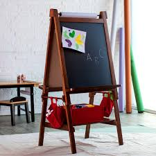 furniture beautiful classic playtime deluxe easel walnut paper