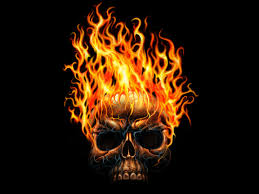 free flaming skull wallpaper wallpapersafari