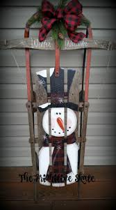 71 best handpainted snowman wooden sleigh images on pinterest