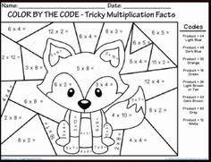 christmas tree multiplication coloring sheet multiplication