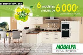 publicité cuisine nos bonnes affaires 6 cuisines mobalpa à moins de 6 000
