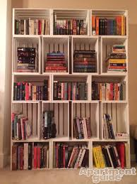 How To Build Your Own Bookshelf Storage Made Simple Diy Wooden Crate Bookshelf Apartmentguide Com