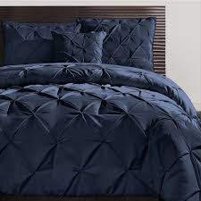 Blue Pintuck Comforter Vcny Carmen Pintuck 4 Piece Comforter Set Free Shipping Today