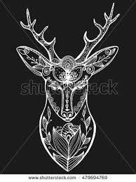 deer ornate isolated vector stock vector 386944498