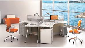 Curved Office Desk Modern 120 Degree Curved Office Modular Workstation 3