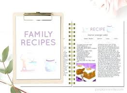 free printable recipe pages cookbook template pages free printable recipe page template for