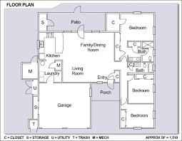 family floor plans floor plan single family home home plan