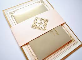 blush and gold wedding invitations vintage blush champagne