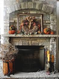 fireplace mantel decor ideas for decorating for thanksgiving autumn decoratingideas