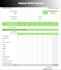 Excel Template For Business Expenses by Expenses Report Template Free Word Excel Download Creative
