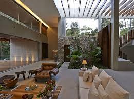 modern open floor plans a modern open floor plan residência bosque da ribeira by