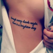 the 25 best side quote tattoos ideas on meaningful