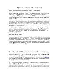 cv vs resume the differences cv vs resume