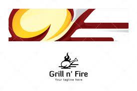logovenue grill n u0027 fire non vegetarian food logo design for