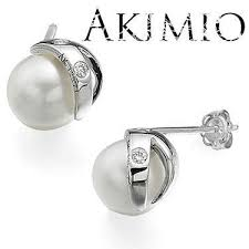 womens earrings akimio designer womens earrings sterling silver 0 044ctw diamond