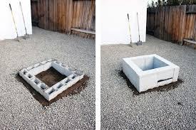 Block Firepit Concrete Pit Plans Concrete Block Pit Plan How To Build