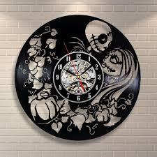 nightmare before christmas home decor the nightmare before christmas black vinyl record clock creative