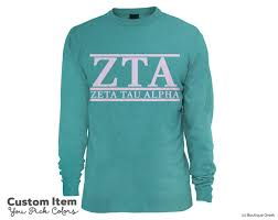 Comfort Color Sweatshirts Wholesale Zta Zeta Tau Alpha Custom Comfort Colors Classic Sorority