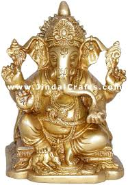 God Statue by Ganesha Handmade Brass Hindu God Statue Sculpture Idol Ganpati