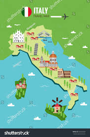 Map Venice Italy by Italy Travel Map Italian Colosseum Milan Stock Vector 552656896