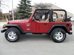 jeep wrangler white 4 door tan interior highland motors chicago schaumburg il used cars details