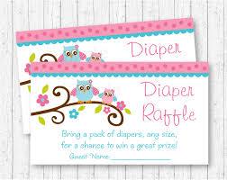 owl diaper raffle tickets owl baby shower pink owl
