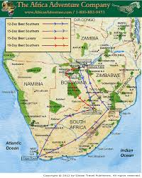 Southern Africa Map by 18 Day Best Of Southern Africa Safari To South Africa Botswana