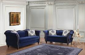blue living room set furniture of america zaffiro living room set in blue