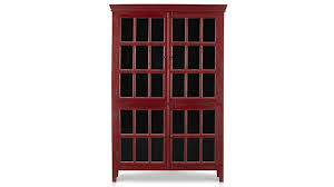 tall bookcase with glass doors rojo red tall cabinet crate and barrel for tall bookcase with with