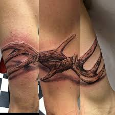 deer antlers going around the arm tattoo art design a u2026 flickr